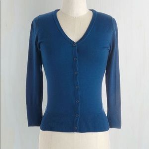 NWOT Modcloth Royal Blue Cardigan Size Small